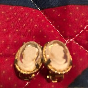 Cute cameo earrings